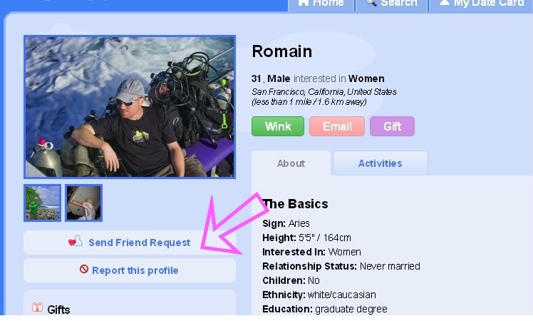 What happens when you add someone on zoosk