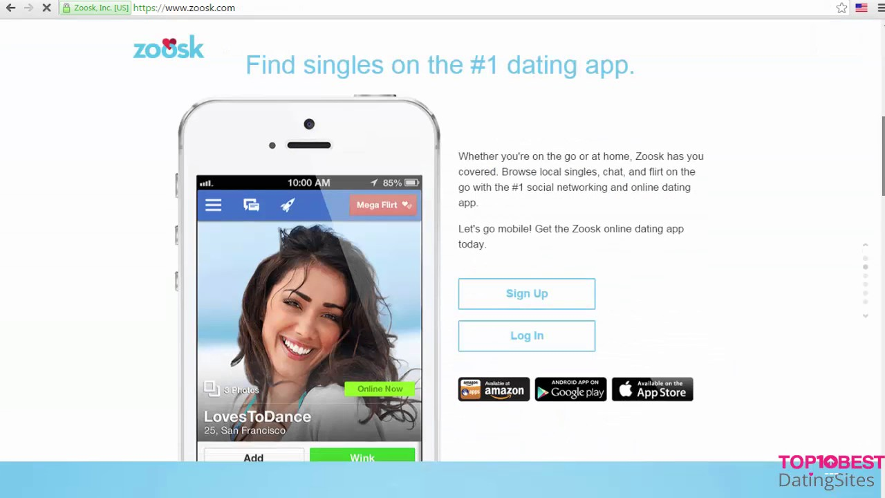 Zoosk application